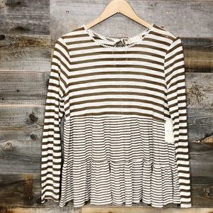 Altard State | Striped Pullover Top | M
